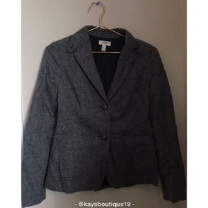 Lands' End Canvas Wool Blazer Size 2
